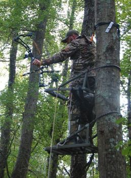A climbing stand gives deer hunters several advantages when it comes to taking a big buck.