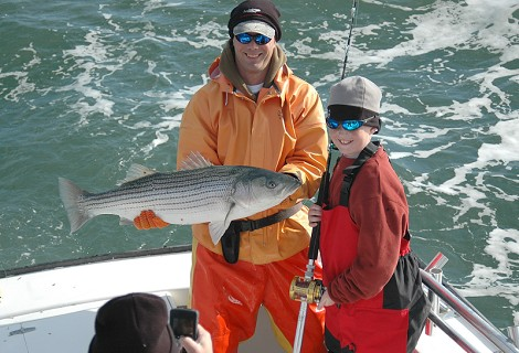 Ocean striped bass bite heats up at northern coast