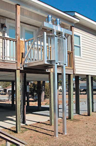 North carolina sportsman new products beach butler cargo for Beach house lifts