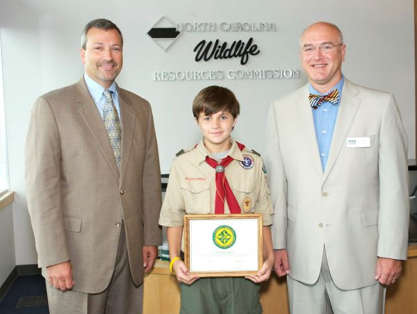 Fayetteville youngster wins lifetime sportsman 39 s license for Nc lifetime fishing license