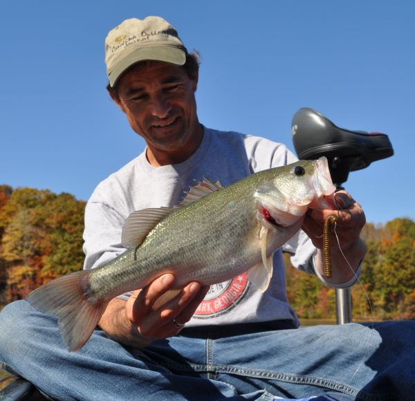 Guide said lake gaston bass are on a great topwater pattern for Lake gaston fishing