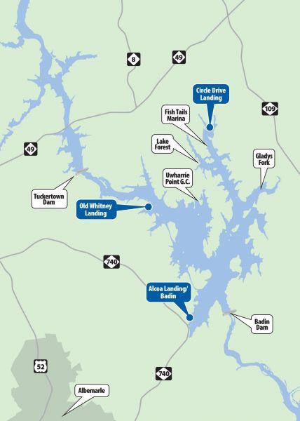 Badin lake may be the home of north carolina s biggest for Badin lake fishing