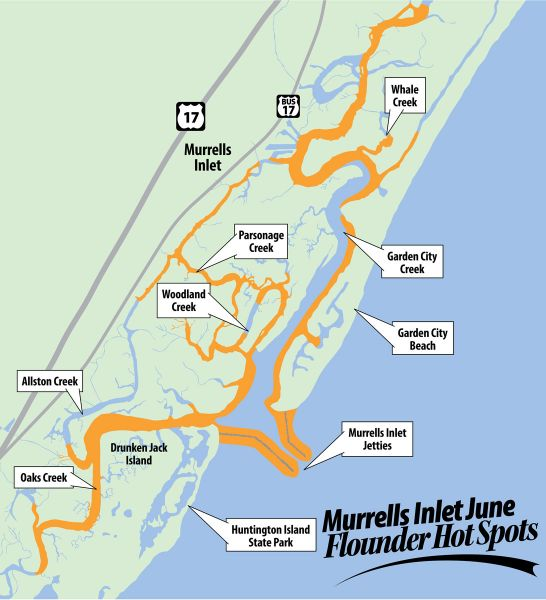 It s prime time for flounder fishing at murrells inlet for Murrells inlet sc fishing
