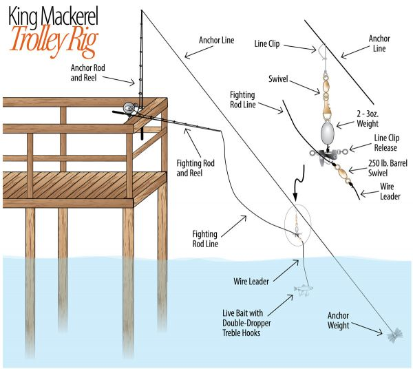 Piers on oak island offer fishermen the opportunity to do for Pier fishing rigs