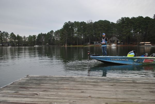 A great spot to be in anglers flock to lake norman for for Lake norman bass fishing