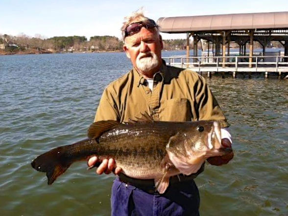 12 pound bass 7 pound bass caught on same trip by badin for Badin lake fishing