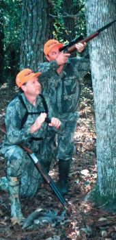 A pair of hunters can spot and stalk for squirrels, with a .22 rifle-shotgun combo making for a tough-to-beat team.