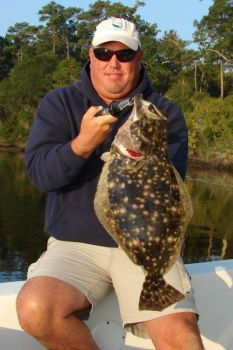Flounder fishing has been excellent from Ocean Isle and Sunset Beach to Little River.