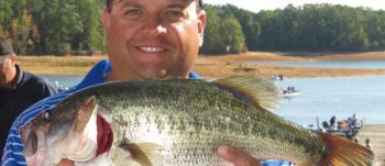 Rusty Turner of the Greenwood Bassmasters No. 1 won big-fish honors in the South Carolina BASS Federation's Six-Man Tournament on Lake Hartwell with this 5.45-pound largemouth.