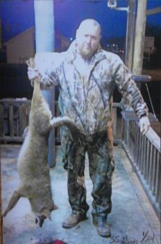 James Ash of Denton took this 35-pound female coyote on Jan. 24, 2012.