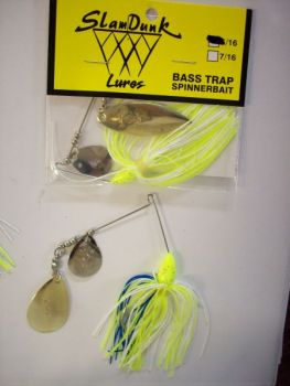 Bass Trap spinnerbaits are unique because they give off maximum vibration with a thicker wire.