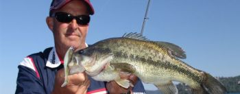 April means big bass in the shallows, looking to spawn.