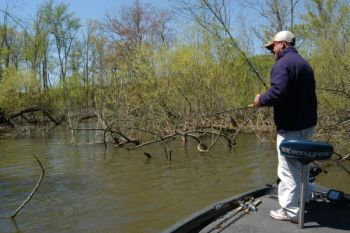 With lake levels higher and the water cooler than normal, will bass go all the way back in creeks this month? Maybe.