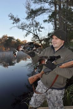 Wood ducks are among primary species taken by hunters at Holly Shelter; the habitat is the kind they like, and it has improved since a 2011 wildfire.