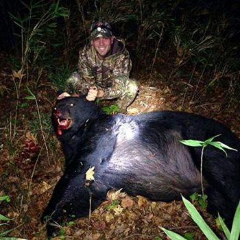 Heath Smith of Easley killed this state-record 609-pound black bear on Monday, Oct. 21, in Greenville County.