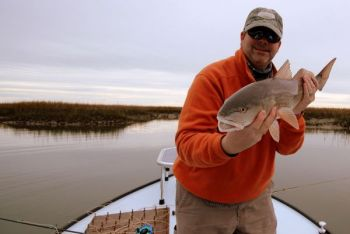 The author won a battle with this nice South Edisto River redfish, a common occurrence for any fishermen who takes the extra time and effort to get on the river.