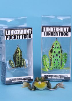 The Lunkerhunt Lunker Frog and Pocket Frog are designed to look and act like real frogs.