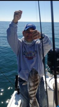 Capt. Englis Glover is a big fan of braided line for sheepshead fishing.
