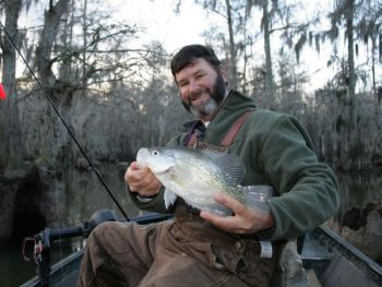 Guide Andy Pack said February is a great month to catch big crappie in the upper end of Lake Marion.