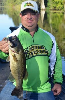 Winston Michel of Pierre Part caught this bass on a Mister Twister Poc'it Hawg Raiser while fishing out of Doiron's Landing in the Atchafalaya Basin.