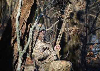 """Late in the season, when ducks get """"blind shy"""" move, leave your blind behind and use natural cover to hide in an area ducks are using."""