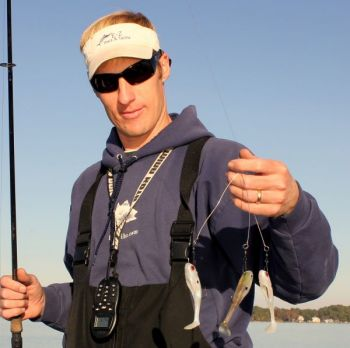 Mitchell Blake's homemade Alabama rigs fool plenty of winter stripers in the Albemarle Sound.