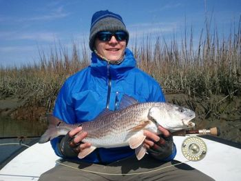 Cold weather has cleared the North Inlet marshes of fishermen, but the redfish are still there and biting up a storm.