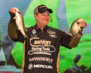 Brandon Gray of Bulloch caught six bass on six straight casts in Saturday's second round of the Bassmaster Classic on Lake Hartwell.