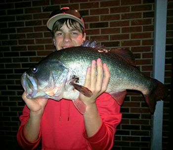 Dylan Suber of Pelzer caught this 10-pound bass on a 30-year-old crankbait on March 8 in the Saluda River.