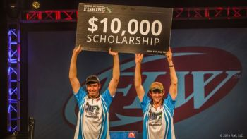 Kristopher Queen and Tyler Black of Bandys H.S. won the FLW/TBF High School Fishing National Championship on Arkansas' Grand lake on Sunday.