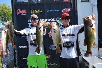 Derek Freeman and Trevor Callaham of T.L. Hanna High School in Anderson won the TBF/FLW High School Fishing World Finals on Alabama's Lake Pickwick with this final day's catch of better than 20 pounds.