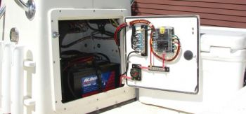 Preventative maintenance on electrical panels should take care of issues that might crop up on winter fishing trips.