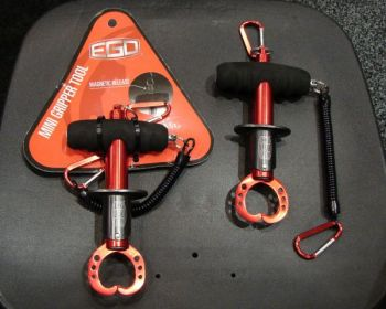 The EGO Mini Gripper comes with a lanyard and is available with or without a magnetic holder. It is just the right size for kayak anglers and wading fishermen.