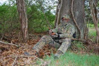 Make sure you're well-concealed when you sit down to call a turkey. Otherwise, he'll bust you.