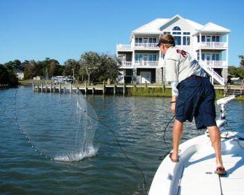 A well-thrown cast net will make obtaining bait a much-easier task.