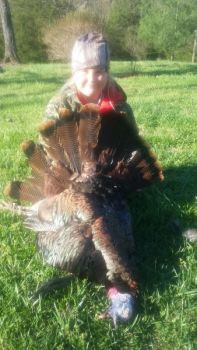 Teaghann Hensley was hunting with her dad on youth weekend when she killed her first turkey. The gobbler had a 10-inch beard and 1-inch spurs.
