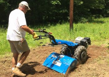 BCS America's walk-behind tractor and implements are perfect for preparing and planting small food plots.