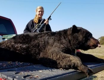 Taylor Horner killed this 580-pound bear in Hyde County, and became the third generation in her family to bag a 500+ pound bear in North Carolina.