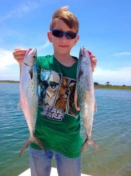 Gabriel Petteway, 9, from Rocky Mount, caught his first two Spanish mackerel on a June 2016 trip with Noah's Ark Fishing Charters.