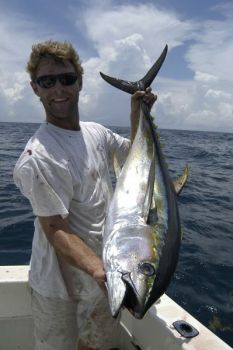 May is a great month for tuna fishing off the coast of the Outer Banks.