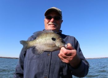 Robert Grooms shows off a deep-water Santee Cooper bluegill.