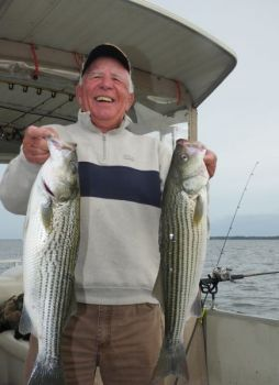 Suggs expects great topwater schooling action, but also prepares for live-bait action.