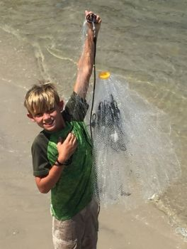 Most of the live baits that fishermen can catch in cast nets in the fall will draw strikes from flounder, but perhaps mullet are the most productive.