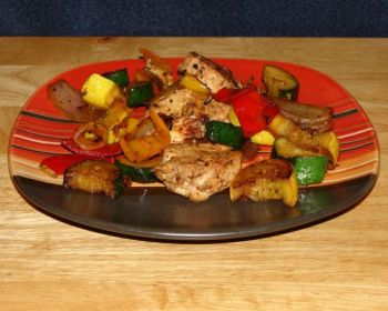Skewerless wahoo kabobs go great with veggies and can be served with light bread or blue corn tortilla chips.