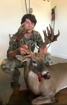 Deklan Woodell killed this heavy-horned buck in Chesterfield County with his Stoeger shotgun.