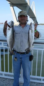 """Jiggin' Jerry"" Grenier said plenty of speckled trout will hang around the structure that surrounds the Mount Pleasant (S.C.) Pier this month."