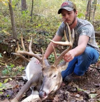 Lathan Peterson killed his biggest buck to date on a Caswell County Game Land hunt on opening day of the 2017 muzzleloader season.