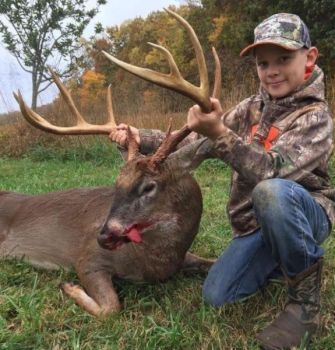 Jonah Knowles killed this big 11-pointer on opening day of NC's central black powder season.