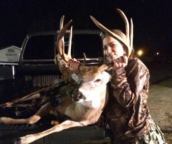 She almost didn't go hunting that day, but Abby Cribb is glad she did. She killed this record book buck in Marion County, SC.
