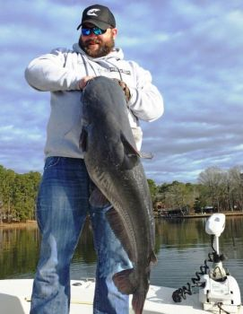 Four lakes in the Carolinas stand out as top cold-weather catfish destinations.